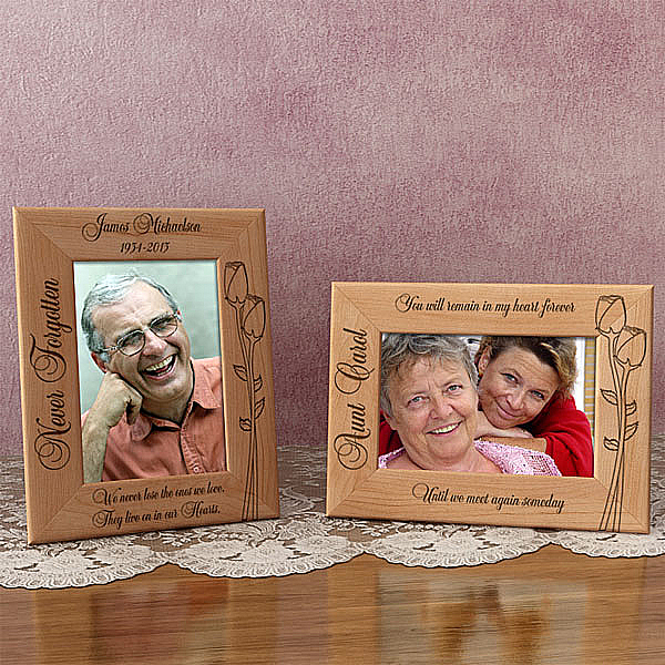Memorial Flower Wooden Picture Frame