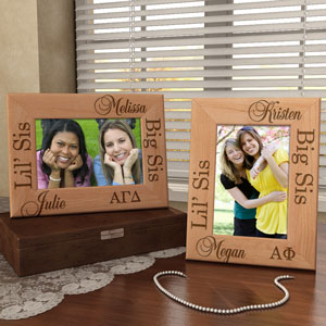 Sorority Big Sis & Lil' Sis Wooden Picture Frame