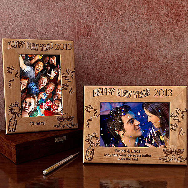 Happy New Year! Wooden Picture Frame