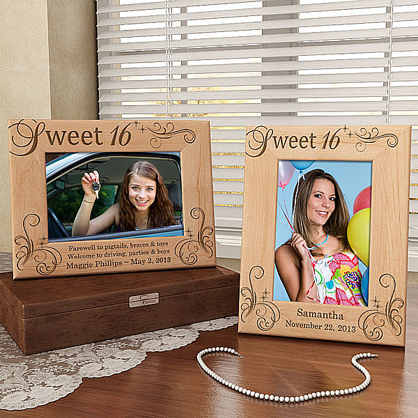 My Sweet Sixteen Wooden Picture Frame