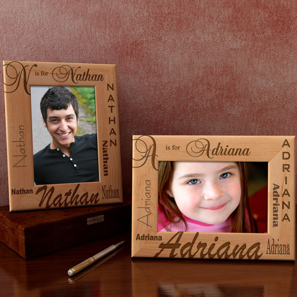 My Initial Wooden Picture Frame