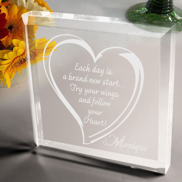Follow Your Heart Keepsake & Paperweight