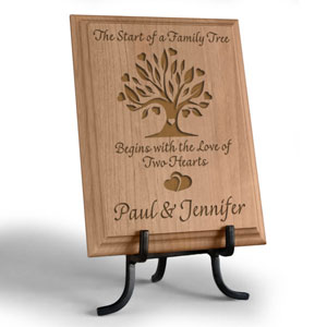 Family Tree Wooden Plaque