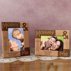 Mommy and Me Wooden Picture Frame