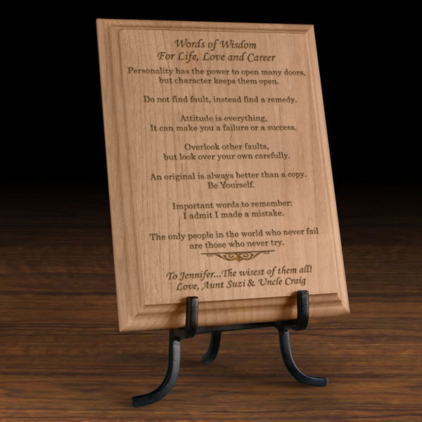 Words of Wisdom Wooden Plaque