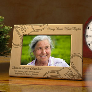 Never Forgotten Wooden Picture Frame