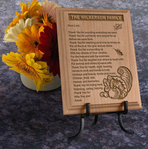 Thanksgiving Thank You Prayer Wooden Plaque