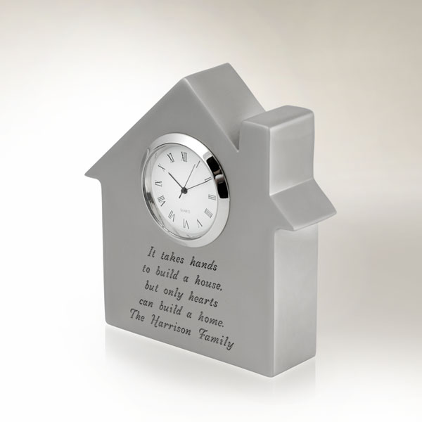 Silver Plated House Clock and Paperweight