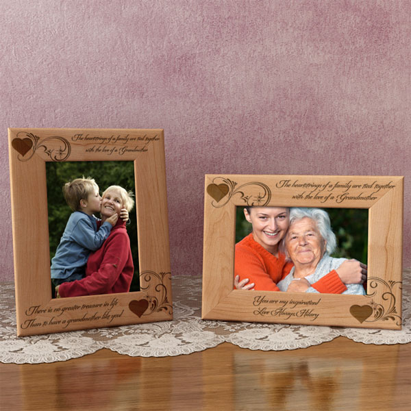 Heartstrings of a Family Wooden Picture Frame