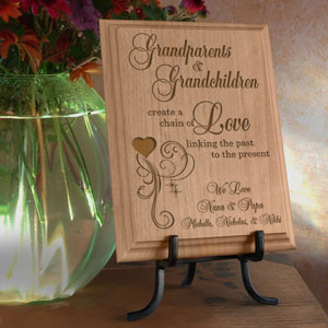 A Chain of Love Wooden Plaque