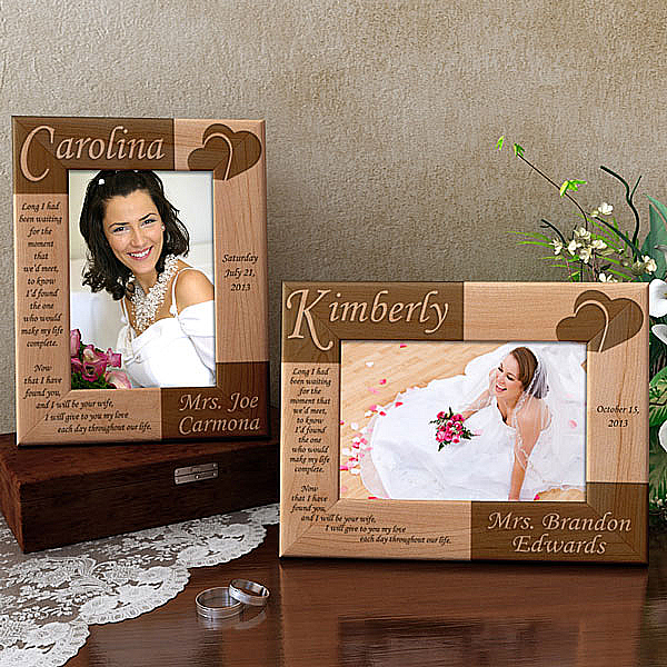 Bride Wooden Picture Frame