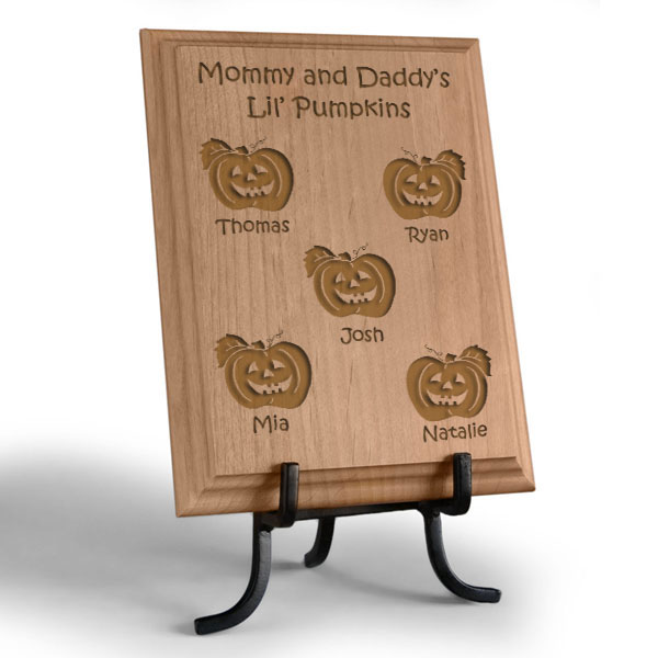 Lil' Pumpkins Wooden Plaque