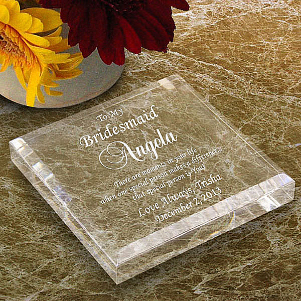 Bridal Party Keepsake & Paperweight