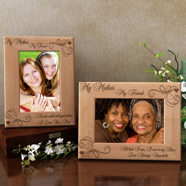 My Mother, My Friend Wooden Picture Frame
