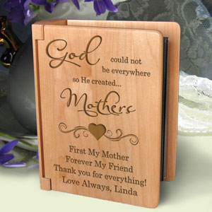 God Created You Wooden Photo Album