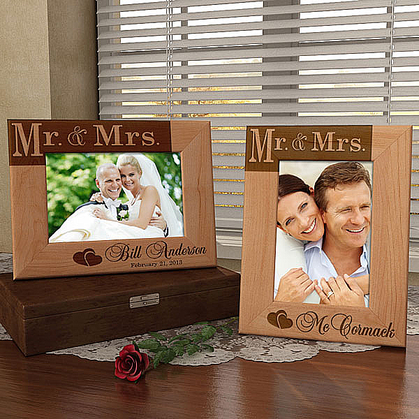 Mr. & Mrs. Wooden Picture Frame