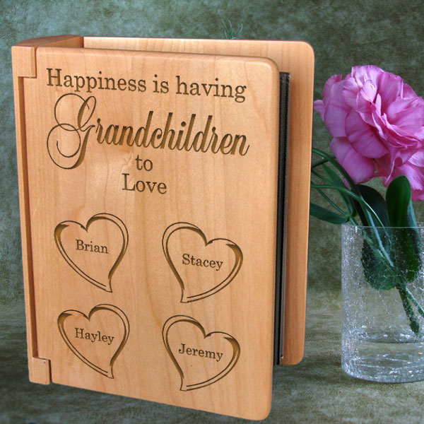 Happiness is You Wooden Photo Album