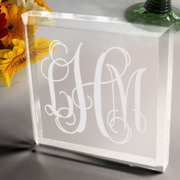 Monogram Keepsake & Paperweight
