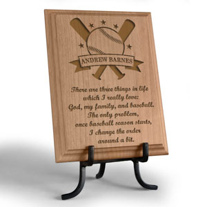 Baseball All-Star Wooden Plaque