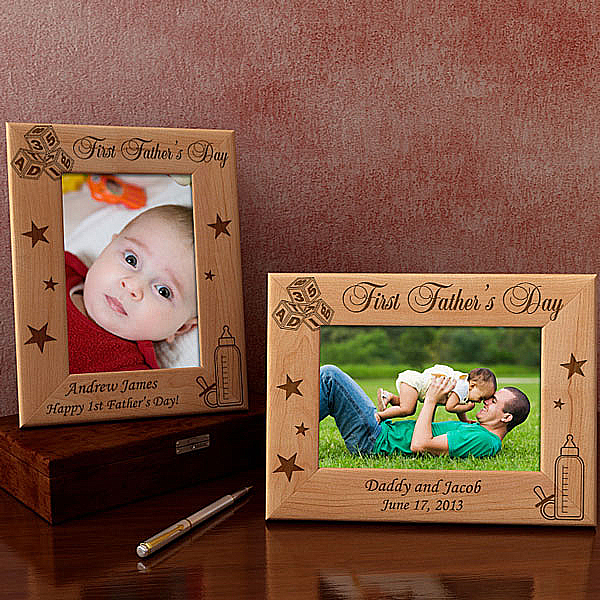 First Father's Day Wooden Picture Frame