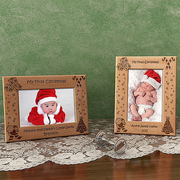 Make Your Own Christmas Picture Frame for Baby