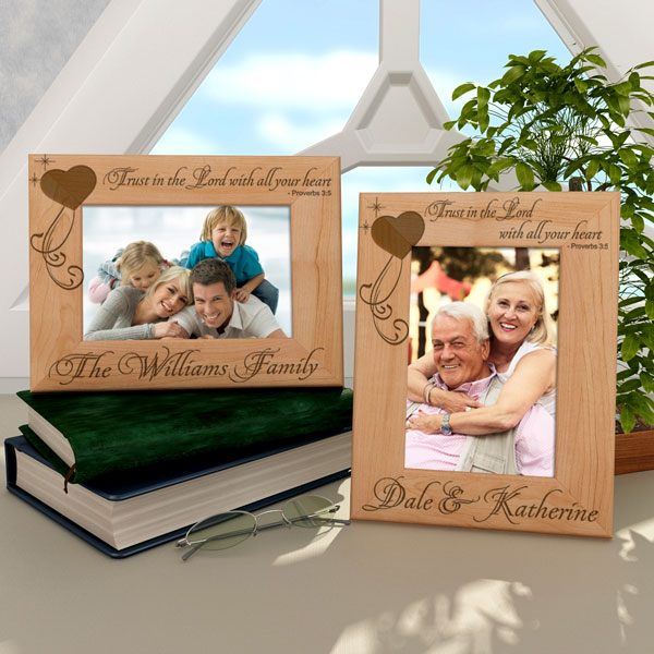 Trust in the Lord Wooden Picture Frame