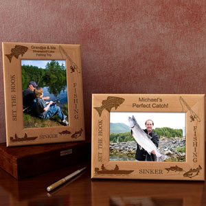 Fishing Wooden Picture Frame