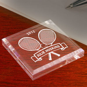 Tennis Star Keepsake & Paperweight