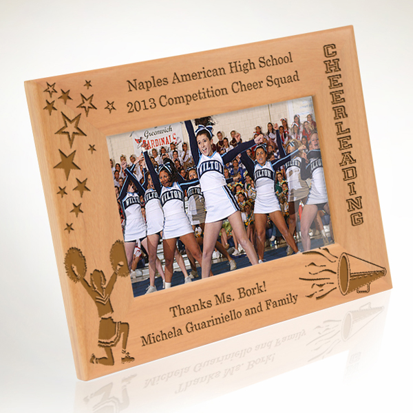 Cheerleading Wooden Picture Frame