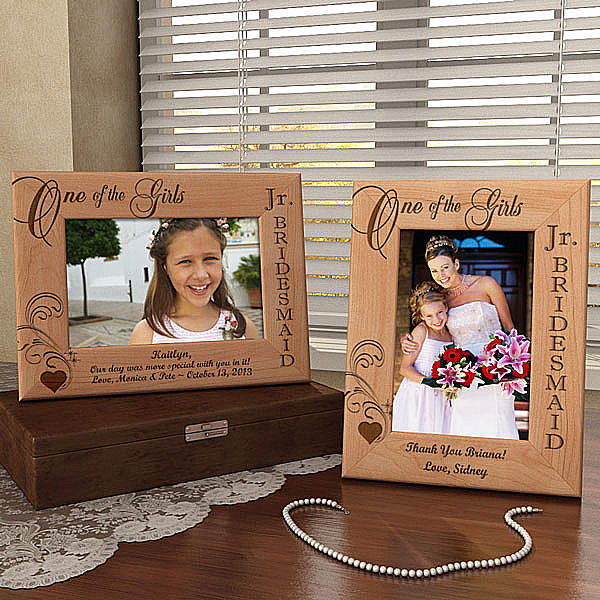 One of the Girls...Our Jr. Bridesmaid Wooden Picture Frame