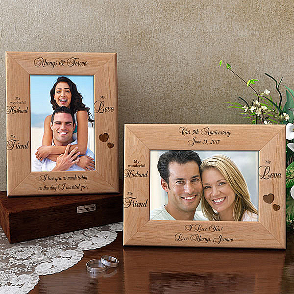 My Husband, My Friend Wooden Picture Frame