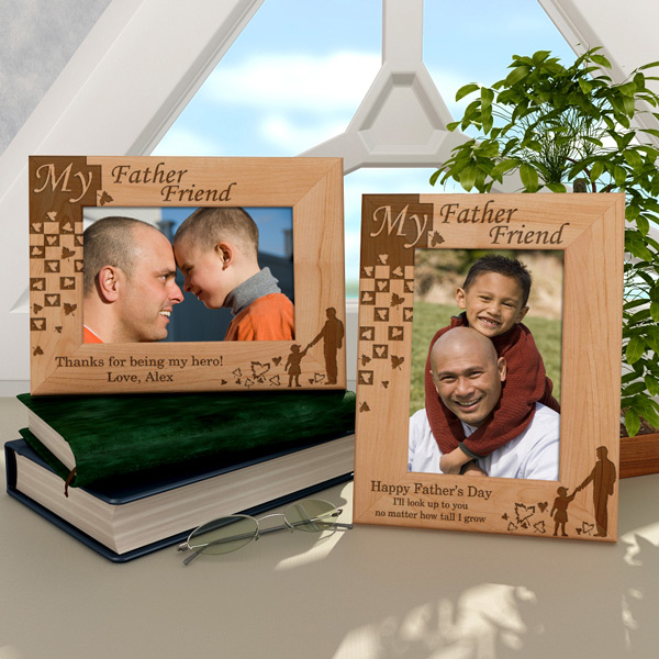 A Father is a Friend Wooden Picture Frame
