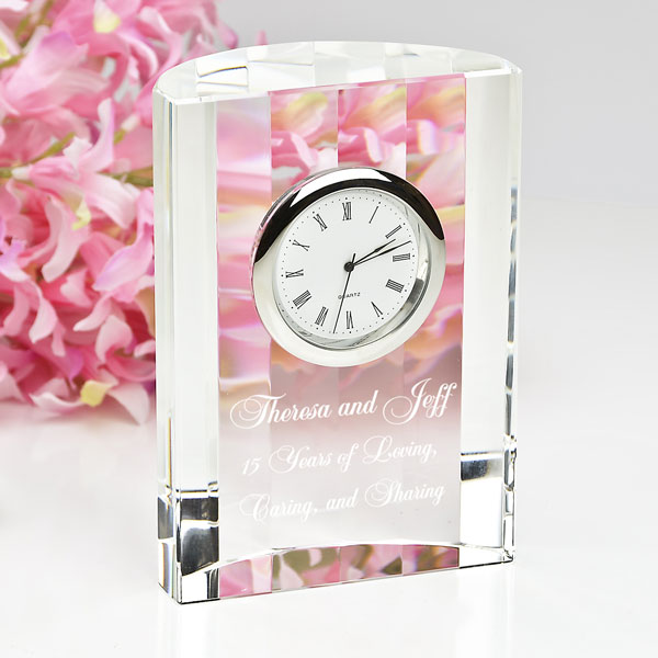 Elegant Optical Crystal Clock