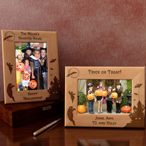 Haunted House Wooden Picture Frame