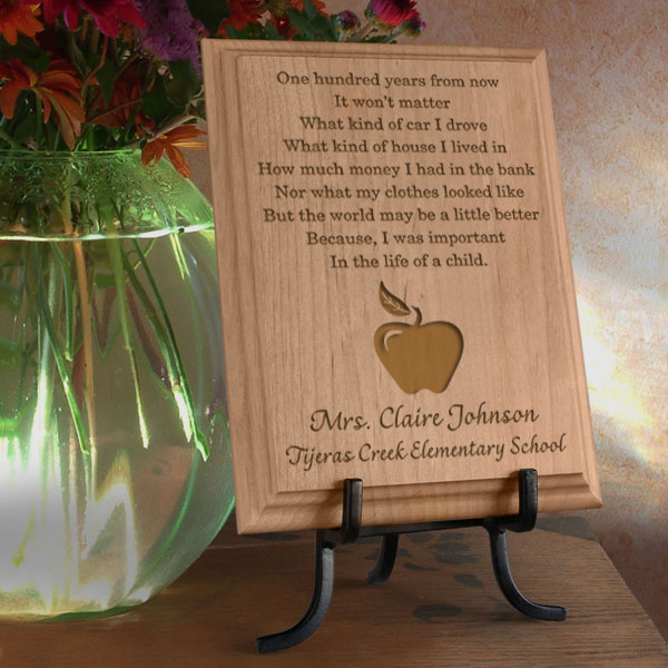 Teacher's Life of a Child Wooden Plaque