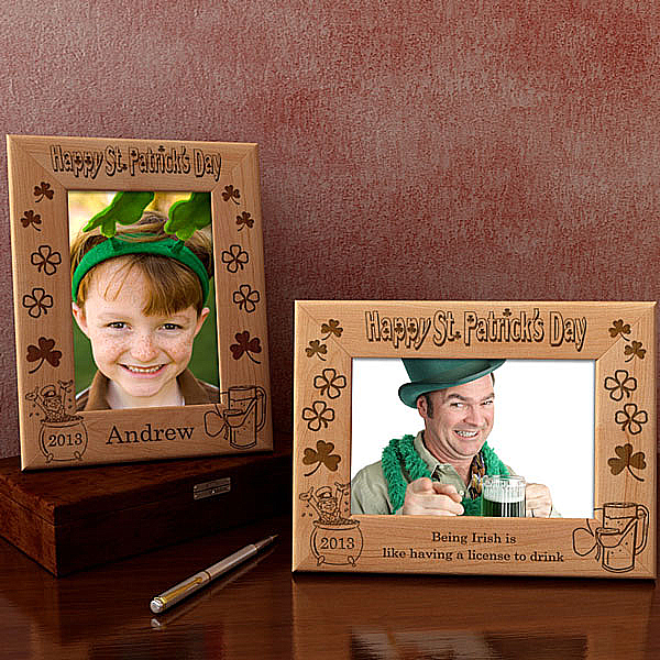 St. Patrick's Day Wooden Picture Frame