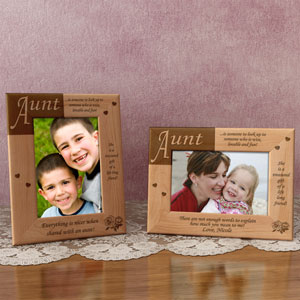 What it Means to be an Aunt Wooden Picture Frame