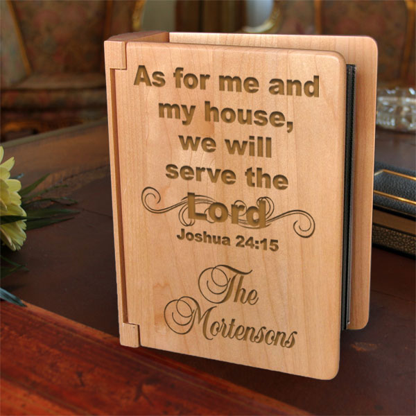 Serve the Lord Wooden Photo Album