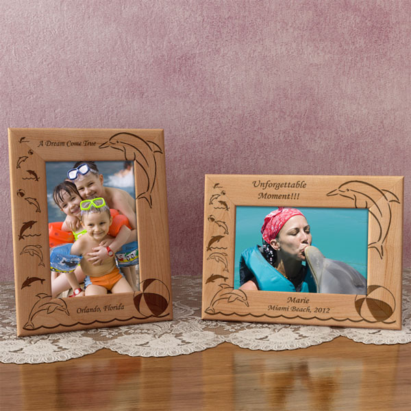 Dolphin Wooden Picture Frame