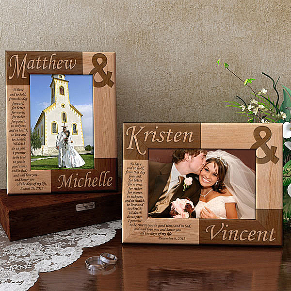 Wedding Vows Wooden Picture Frame