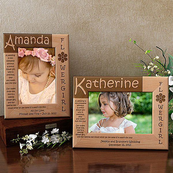 Flower Girl Poem Wooden Picture Frame