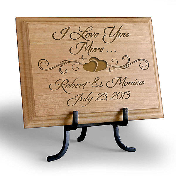 I Love You More Wooden Plaque