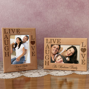 Live, Love, Laugh Wooden Picture Frame