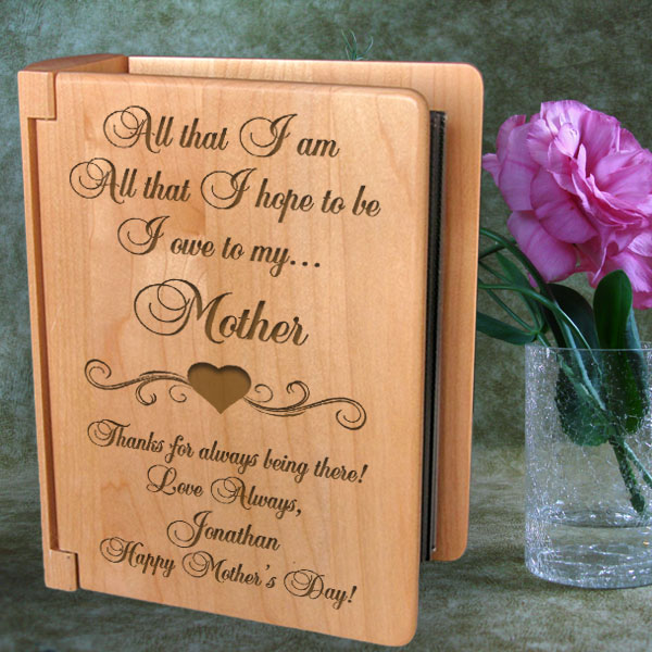 I Owe Everything To...Wooden Photo Album