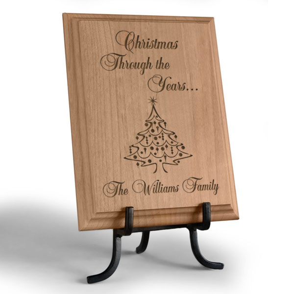 Christmas Through the Years...Wooden Plaque