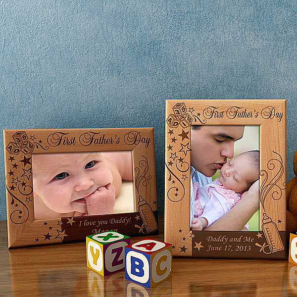A Father's Day to Remember Wooden Picture Frame