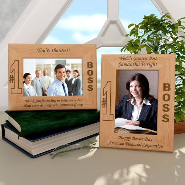 Number One Boss Wooden Picture Frame