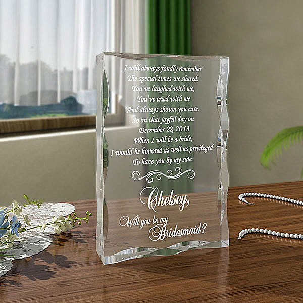 Will You Be My Bridesmaid Keepsake