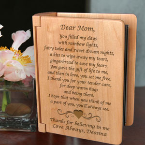 Mom Poem Wooden Photo Album