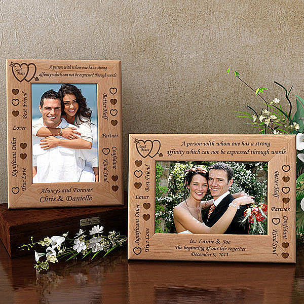 Soul Mate Definition Wooden Picture Frame